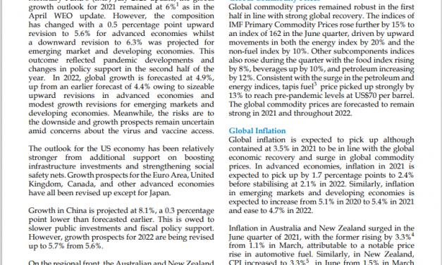 Quarterly Report – June 2021